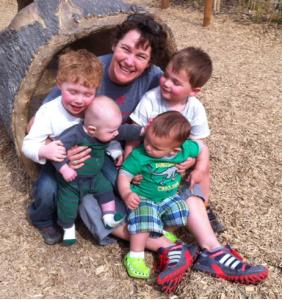 Emily enjoying time with her nephews