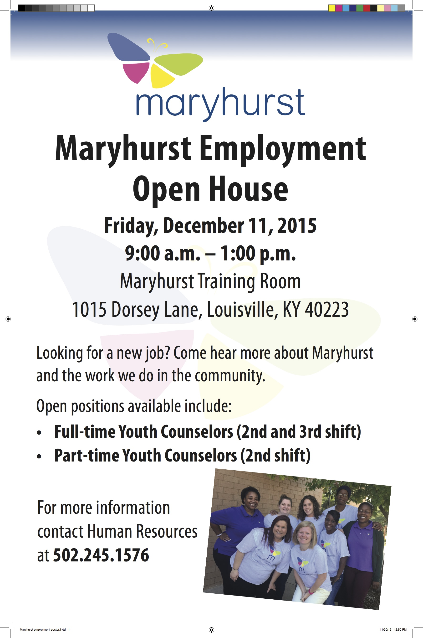 maryhurst employment poster open positions available include full time youth counselors 2nd 3rd shift - 2nd Shift Careers 2nd Shift Employment 2nd Shift Jobs