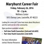 Maryhurst Career Fair February 26