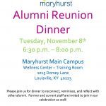 Maryhurst: Alumni Reunion Dinner