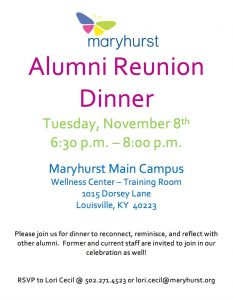 Maryhurst: Alumni Reunion Dinner @ Maryhurst  | Louisville | Kentucky | United States